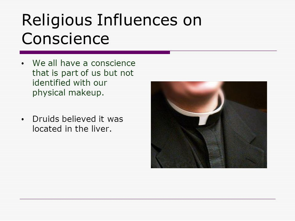 Religious Influences on Conscience