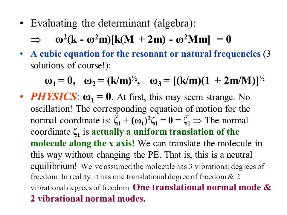 Evaluating the determinant (algebra):