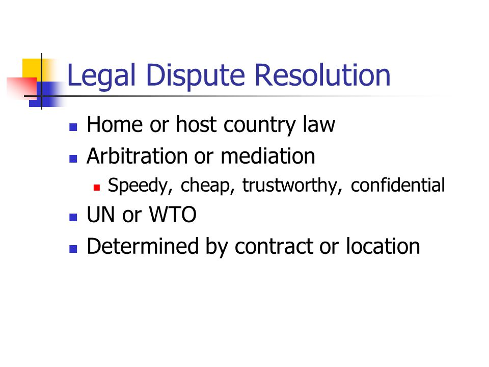 Legal Dispute Resolution