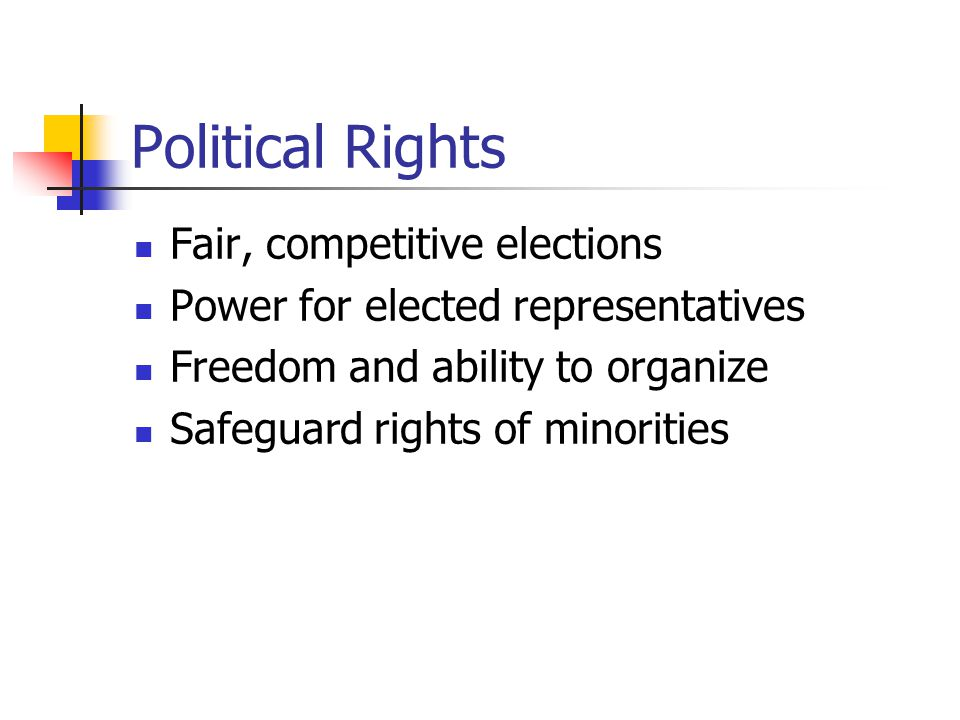 Political Rights Fair, competitive elections