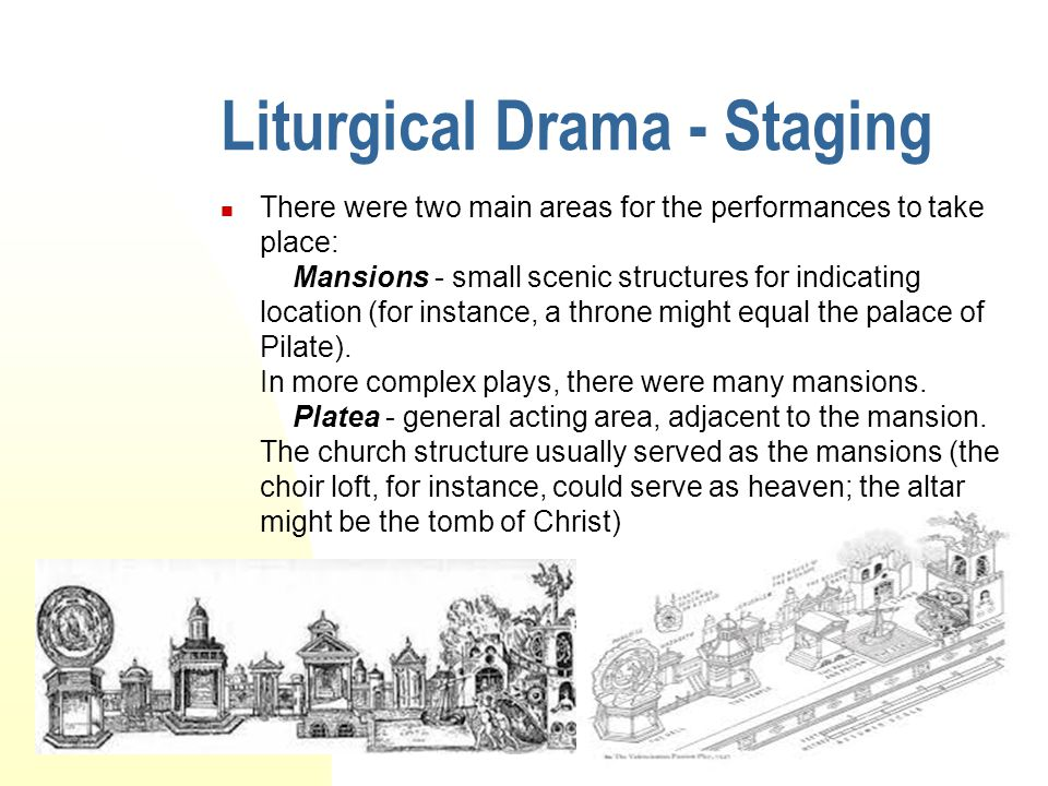 Liturgical Drama - Staging