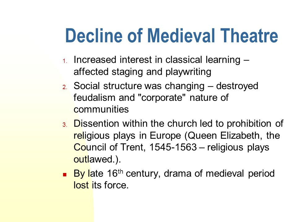 Decline of Medieval Theatre