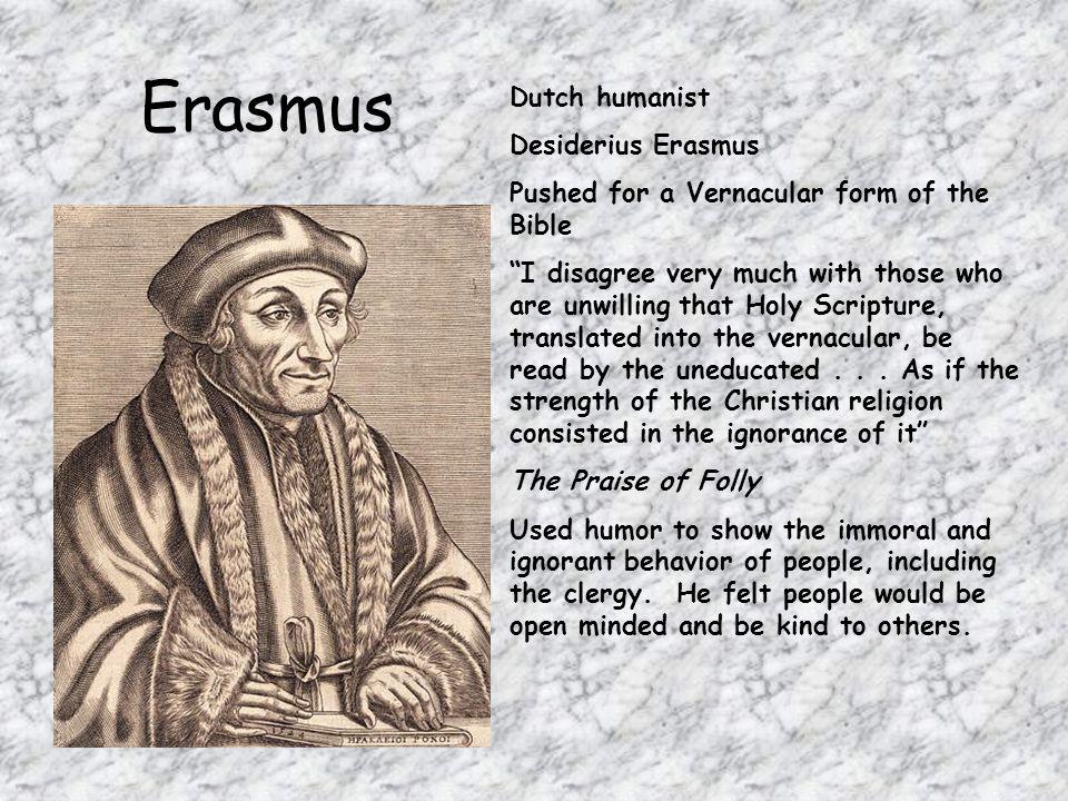 Erasmus Dutch humanist Desiderius Erasmus