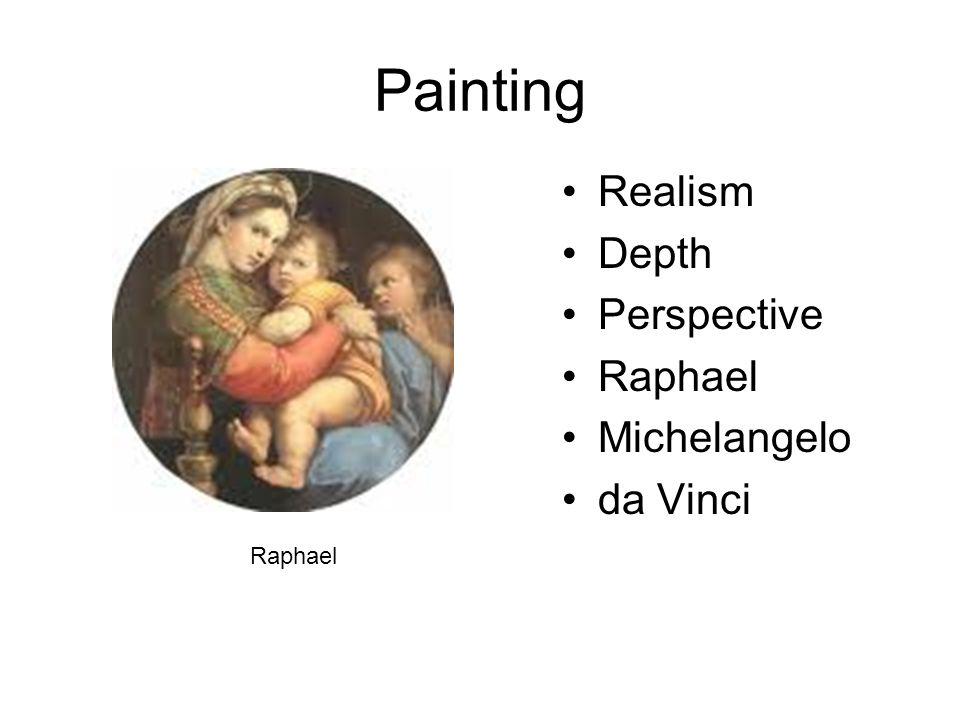 Painting Realism Depth Perspective Raphael Michelangelo da Vinci