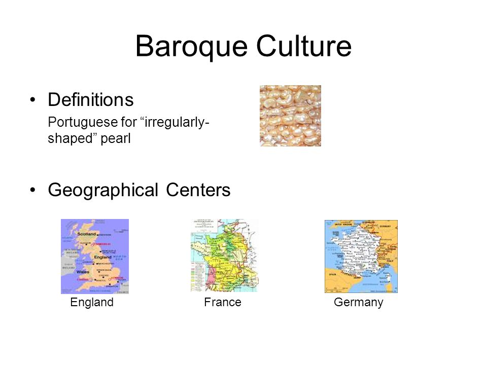 Baroque Culture Definitions Geographical Centers