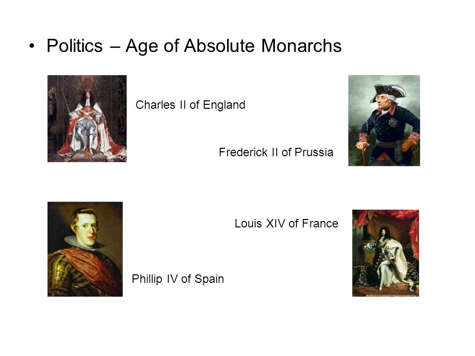 Politics – Age of Absolute Monarchs
