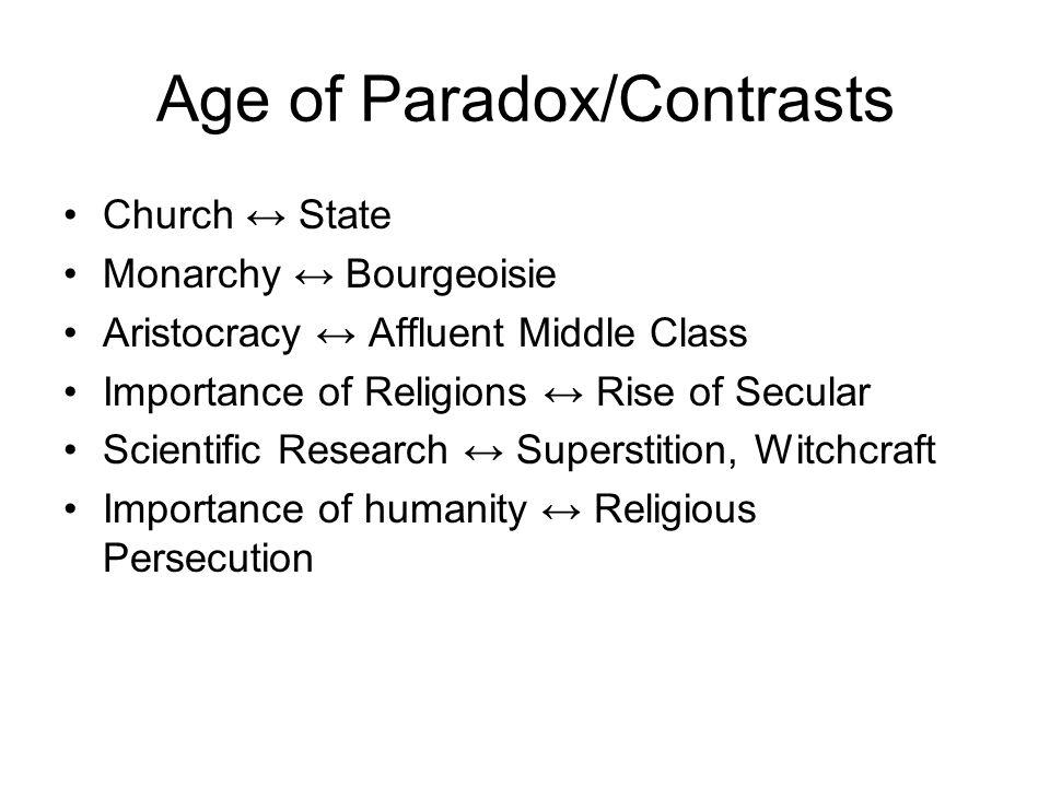 Age of Paradox/Contrasts
