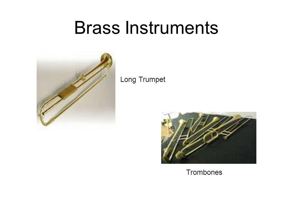 Brass Instruments Long Trumpet Trombones