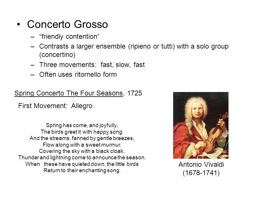 Concerto Grosso friendly contention
