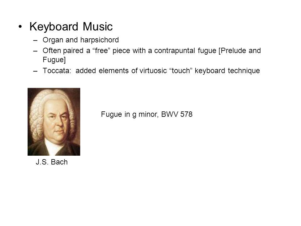 Keyboard Music Organ and harpsichord