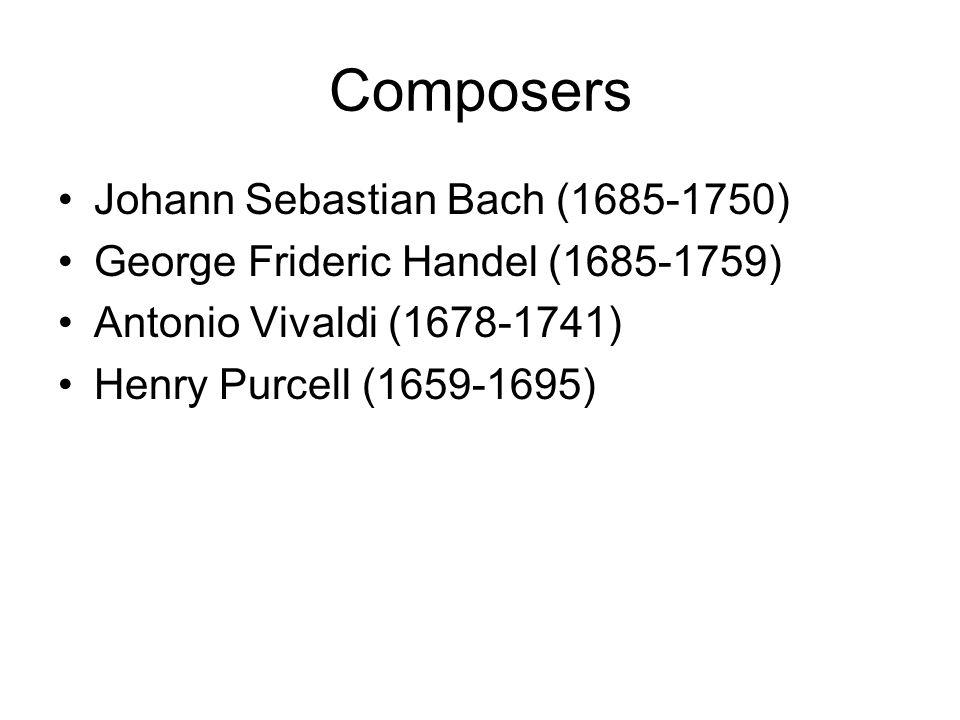 Composers Johann Sebastian Bach (1685-1750)