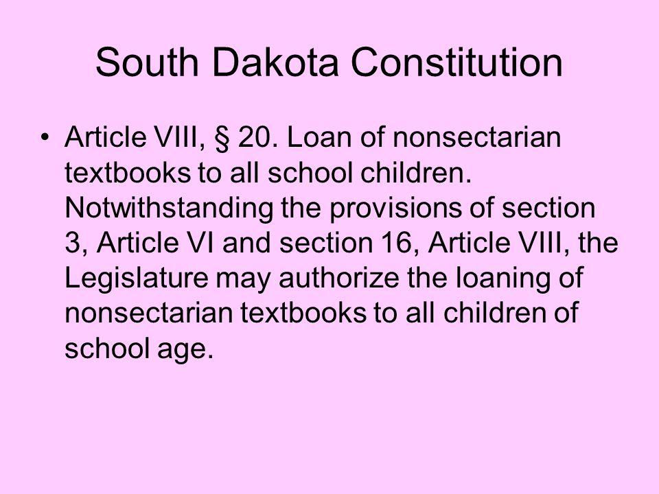 South Dakota Constitution