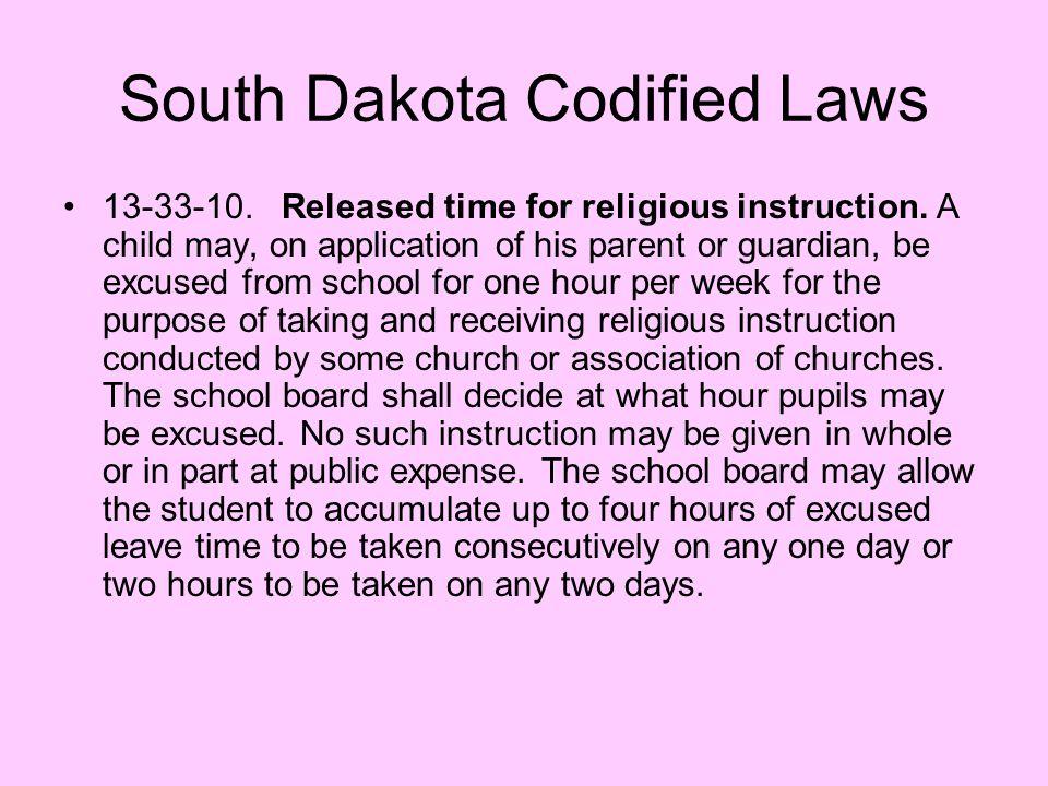 South Dakota Codified Laws
