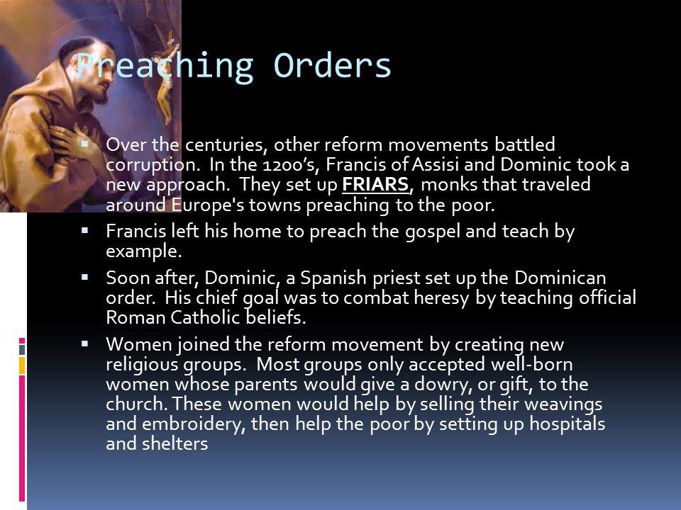 Preaching Orders