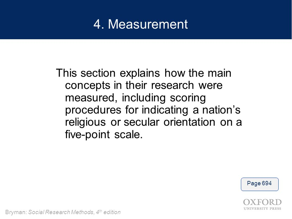 4. Measurement