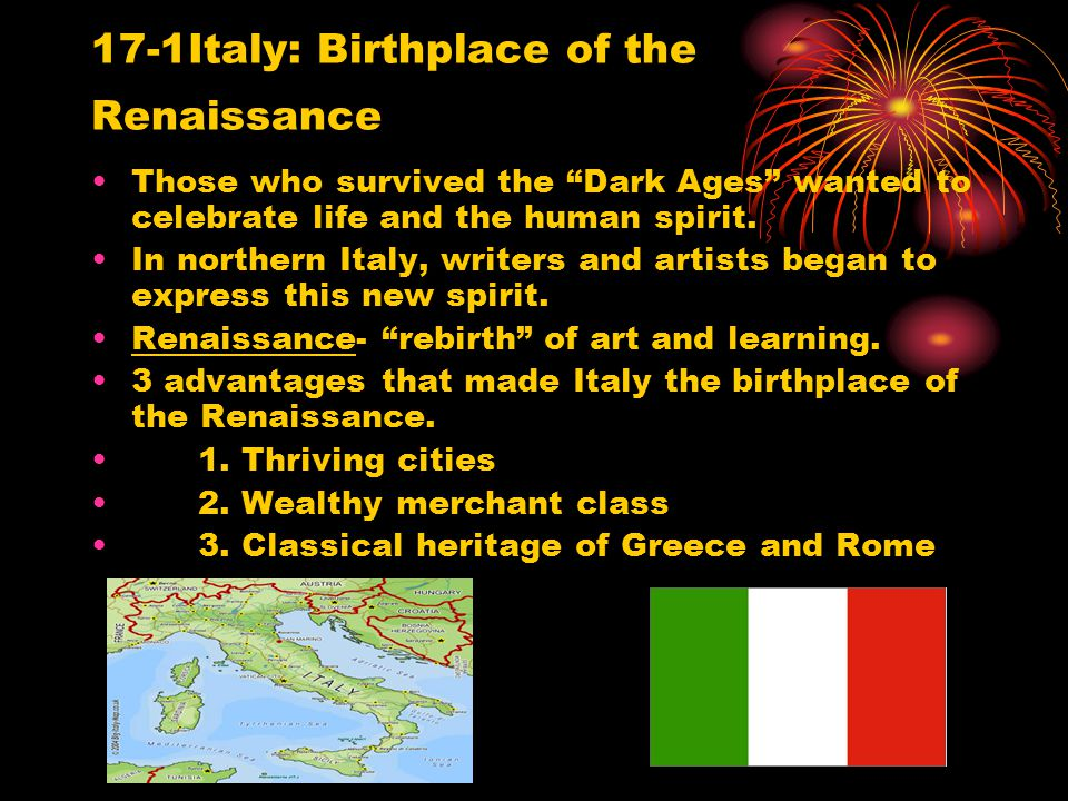 17-1Italy: Birthplace of the Renaissance