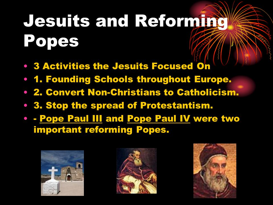 Jesuits and Reforming Popes