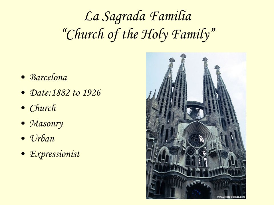 La Sagrada Familia Church of the Holy Family