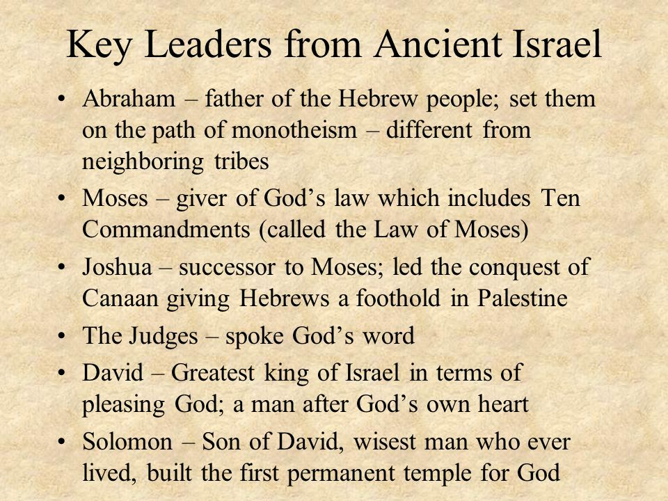 Key Leaders from Ancient Israel