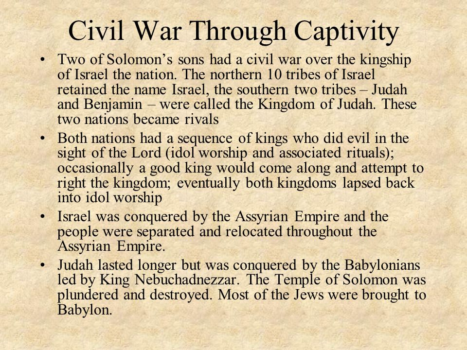 Civil War Through Captivity