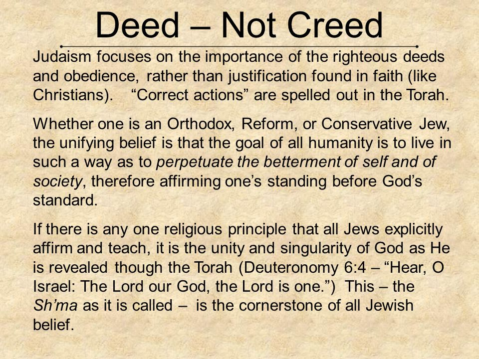Deed – Not Creed
