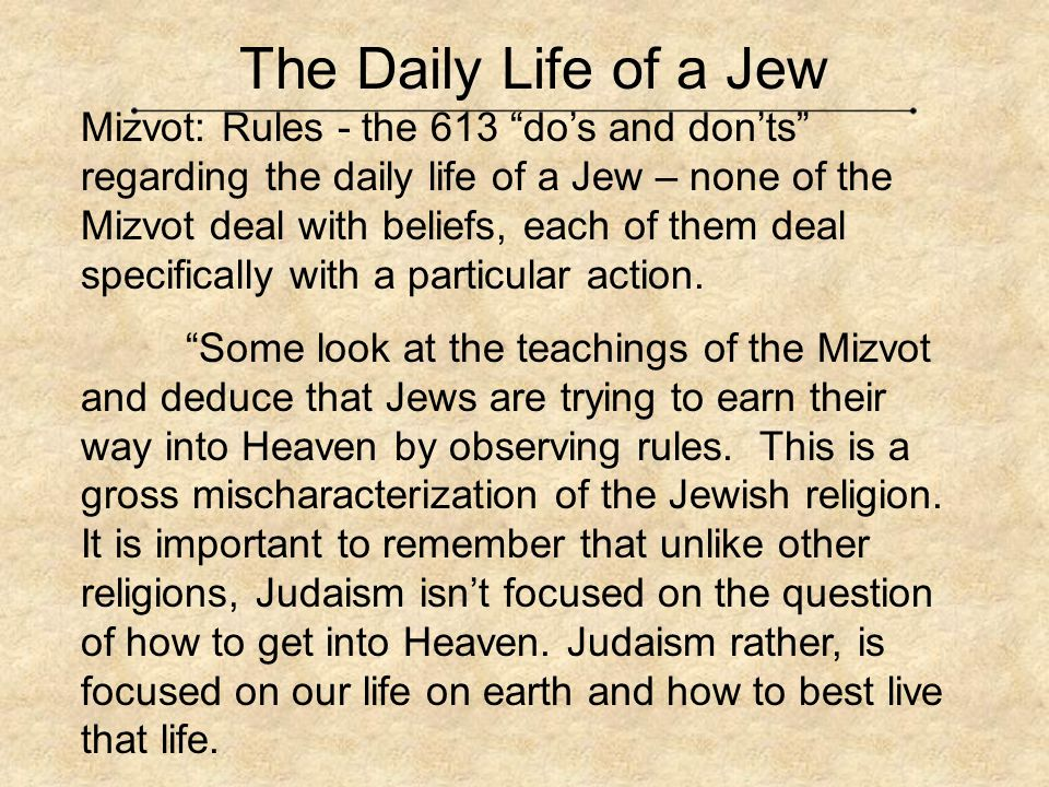 The Daily Life of a Jew