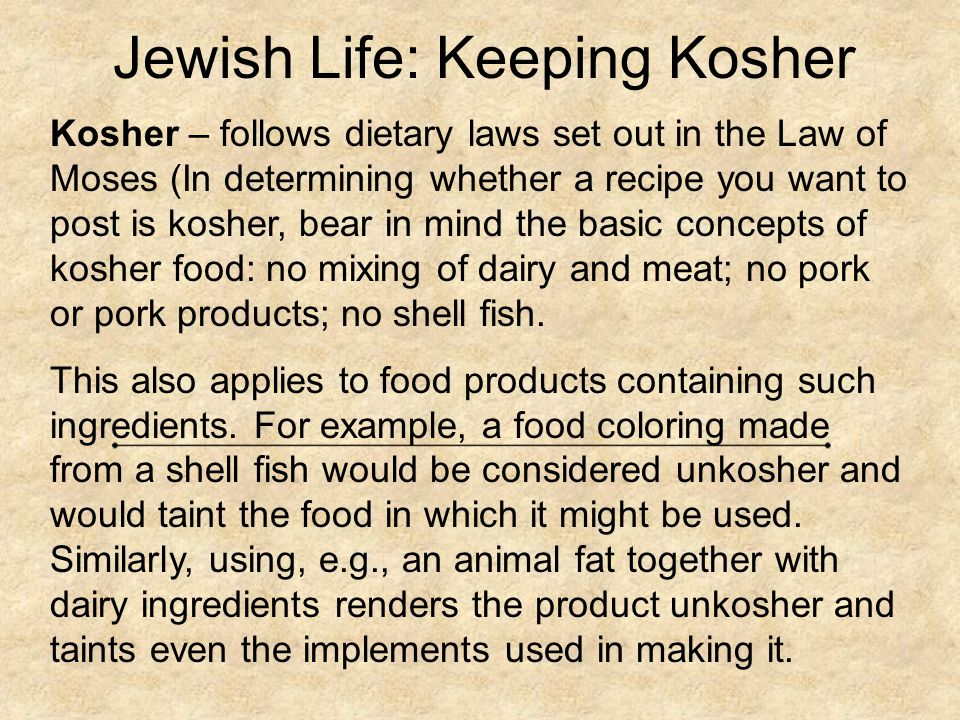 Jewish Life: Keeping Kosher