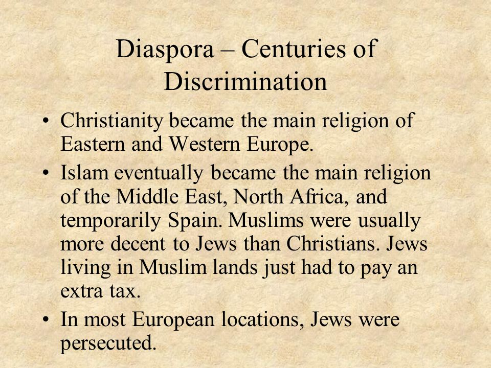 Diaspora – Centuries of Discrimination