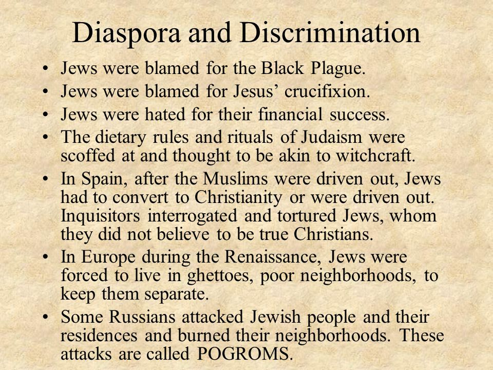 Diaspora and Discrimination