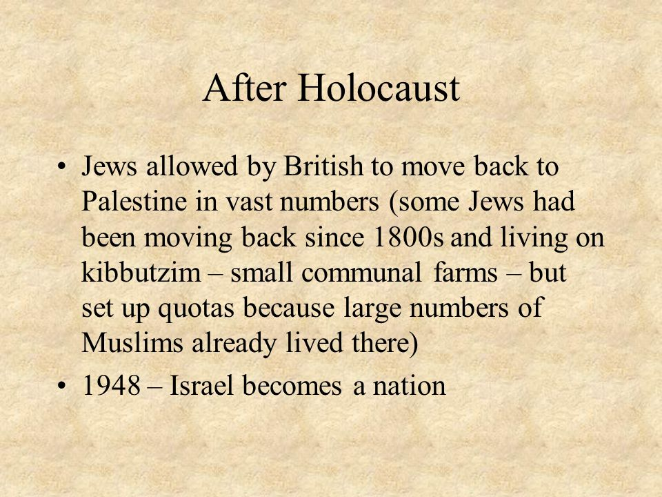 After Holocaust