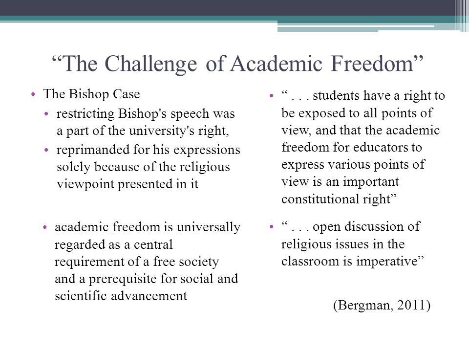 The Challenge of Academic Freedom
