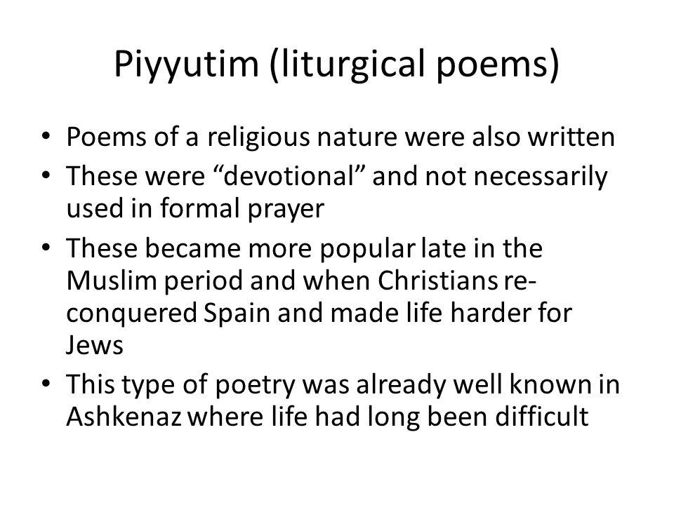 Piyyutim (liturgical poems)