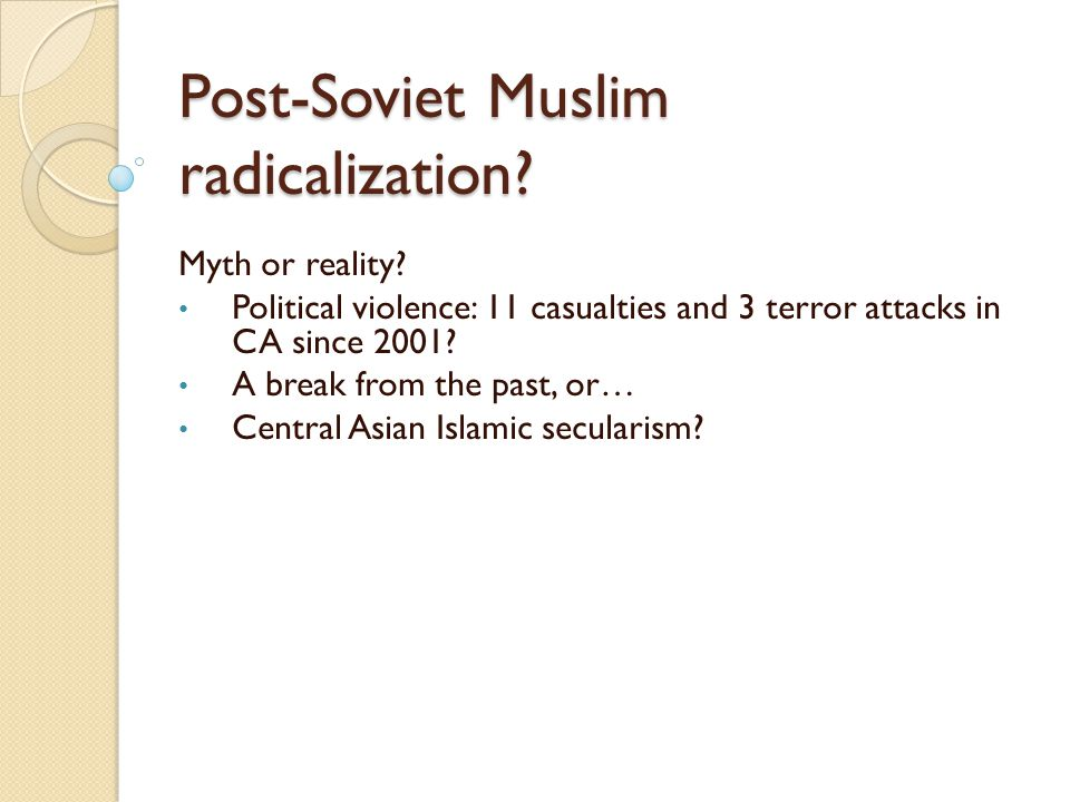 Post-Soviet Muslim radicalization
