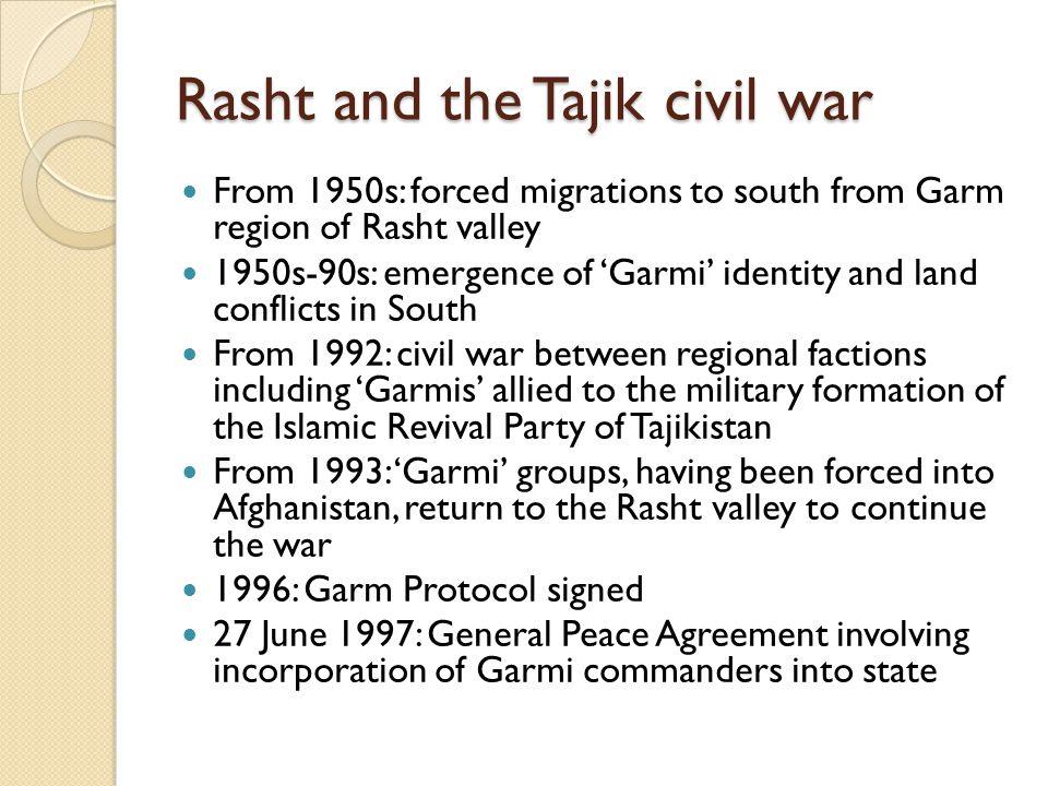 Rasht and the Tajik civil war