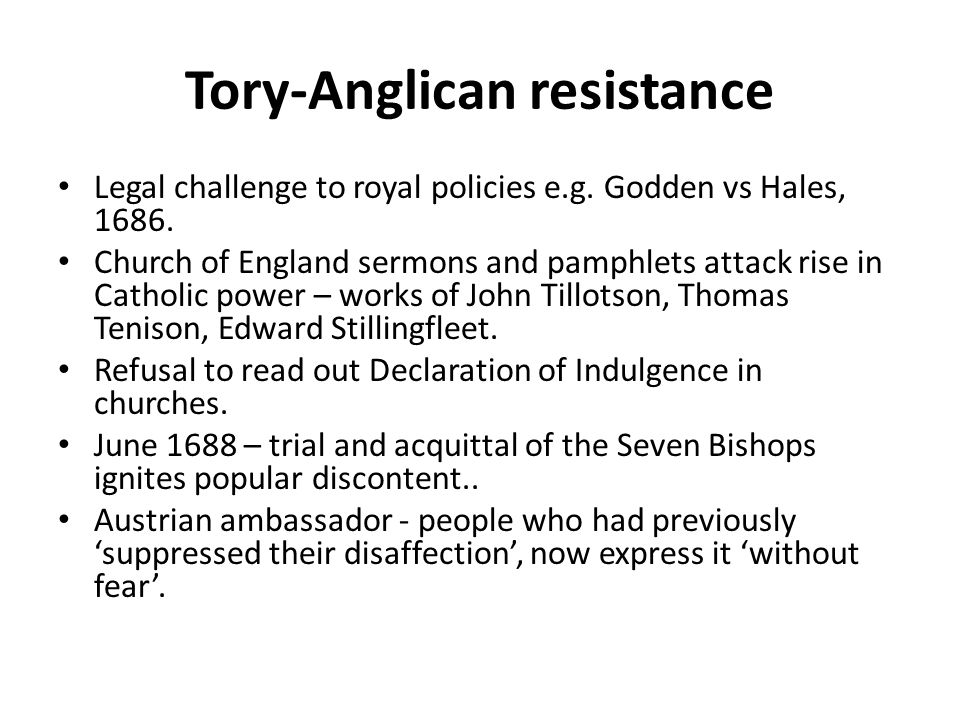 Tory-Anglican resistance