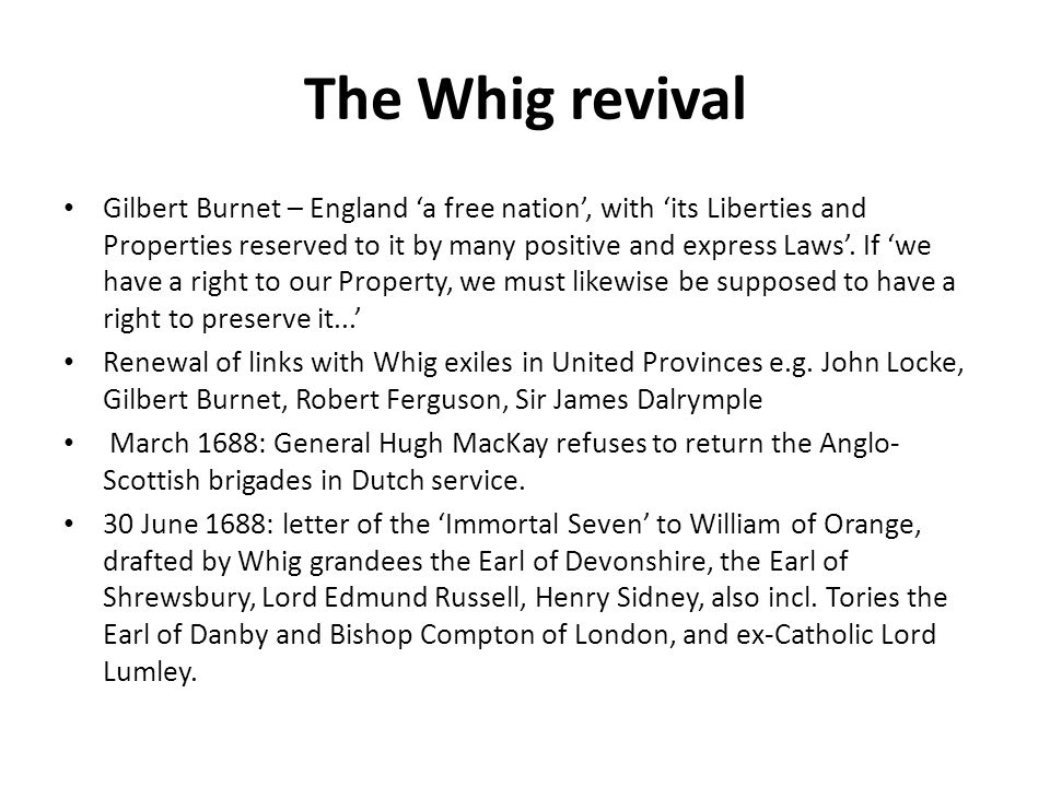 The Whig revival