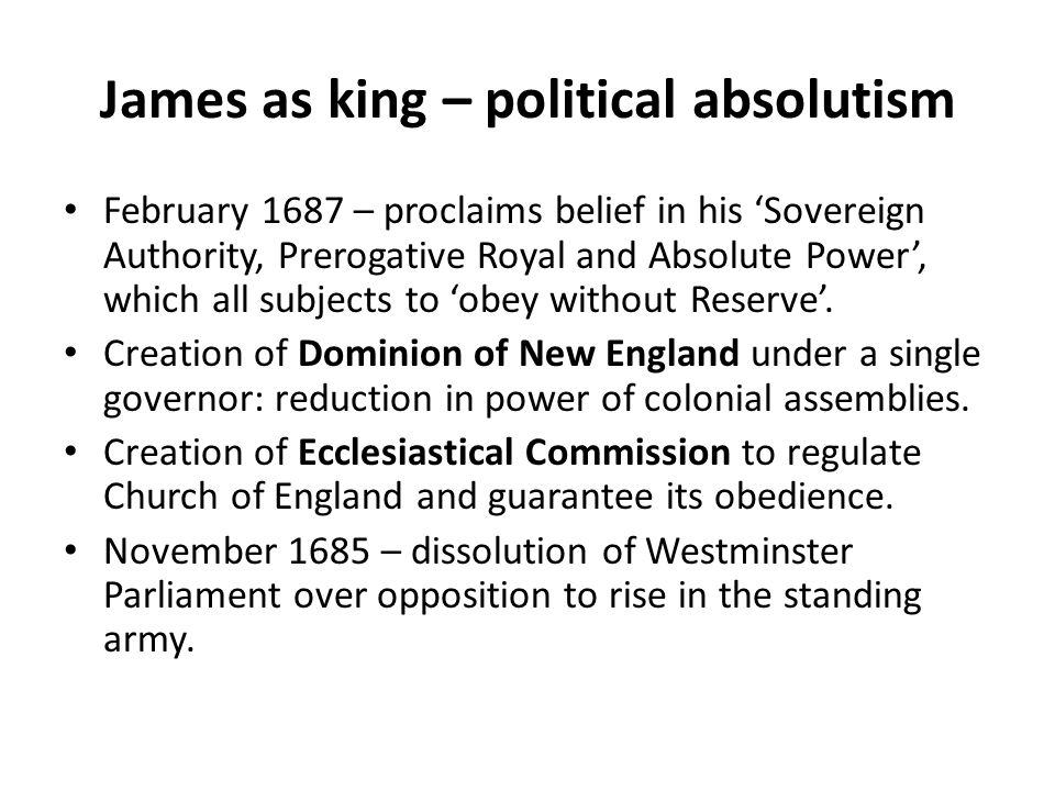 James as king – political absolutism