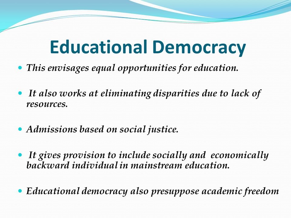 Educational Democracy