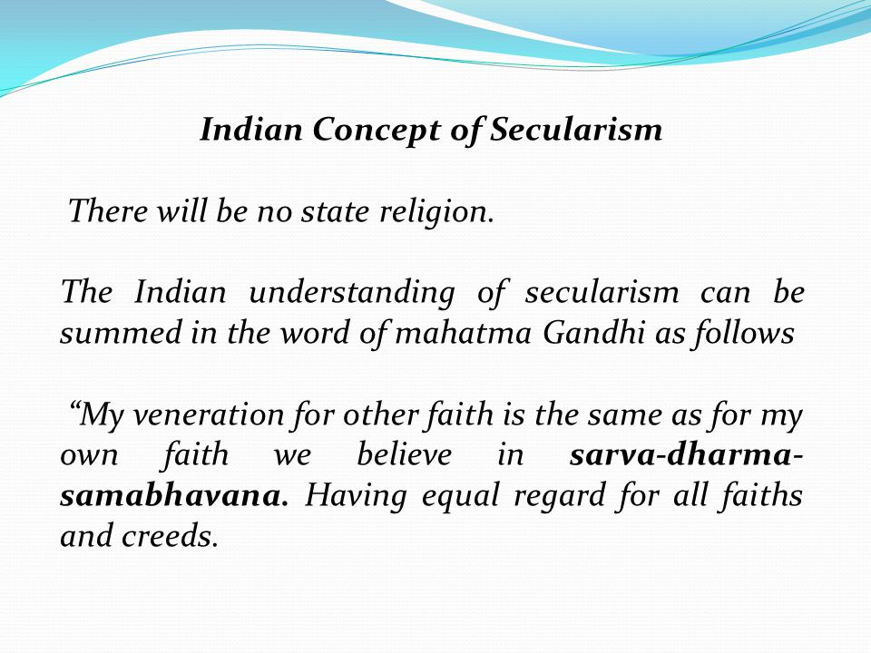 Indian Concept of Secularism
