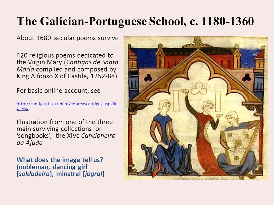 The Galician-Portuguese School, c. 1180-1360