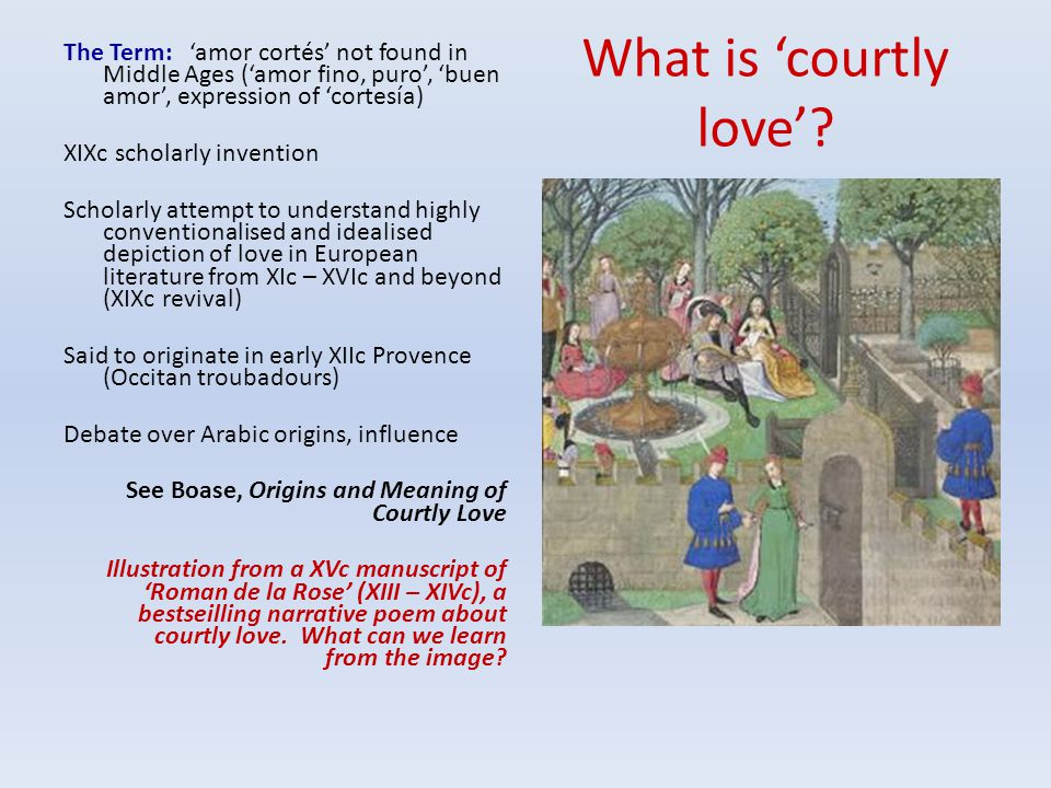 What is 'courtly love'