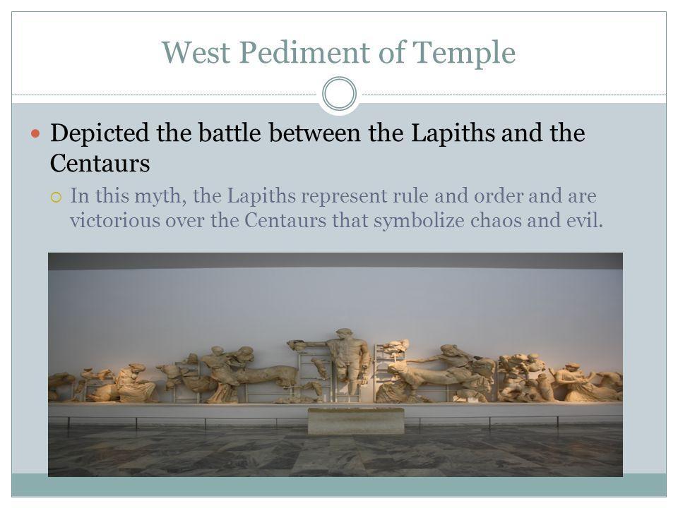 West Pediment of Temple