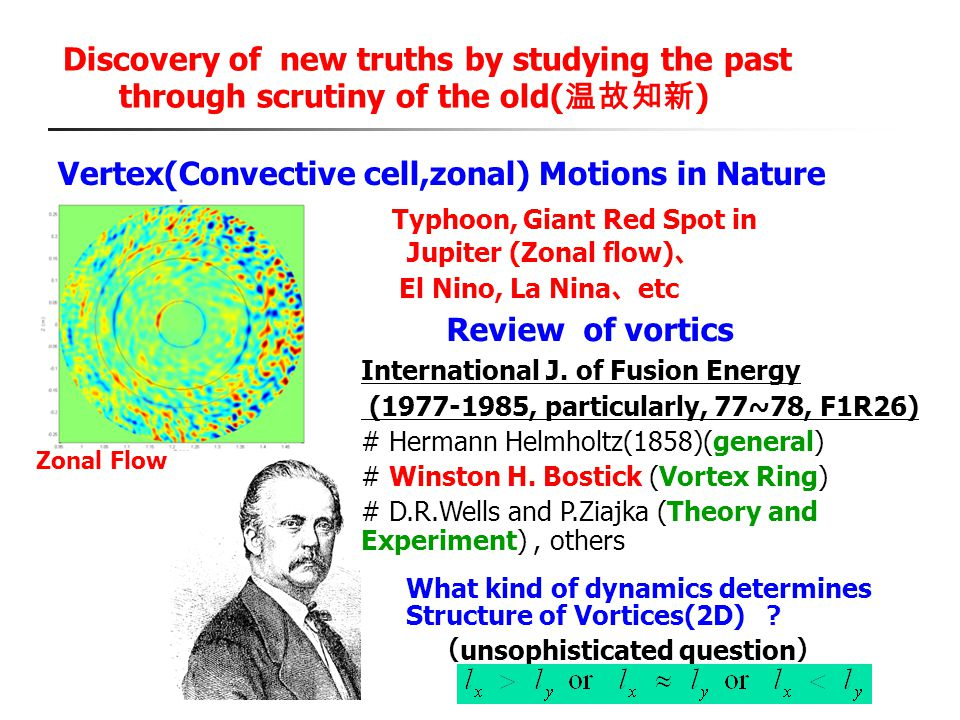 Vertex(Convective cell,zonal) Motions in Nature