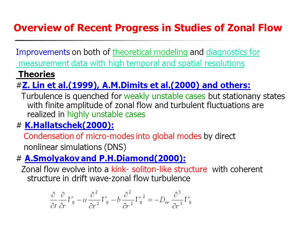 Overview of Recent Progress in Studies of Zonal Flow