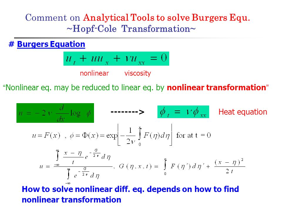 Comment on Analytical Tools to solve Burgers Equ