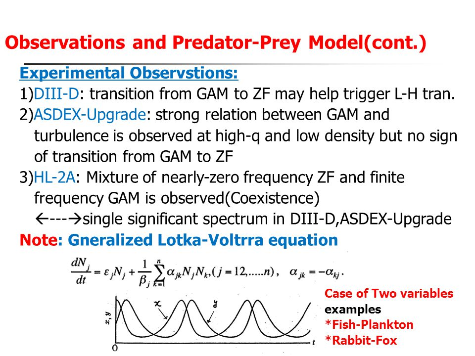 Observations and Predator-Prey Model(cont.)