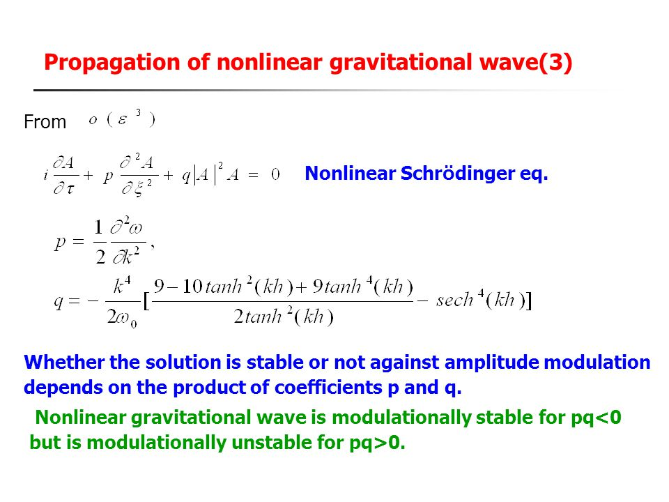 Propagation of nonlinear gravitational wave(3)