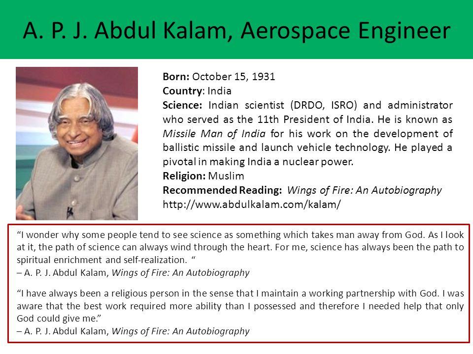 A. P. J. Abdul Kalam, Aerospace Engineer