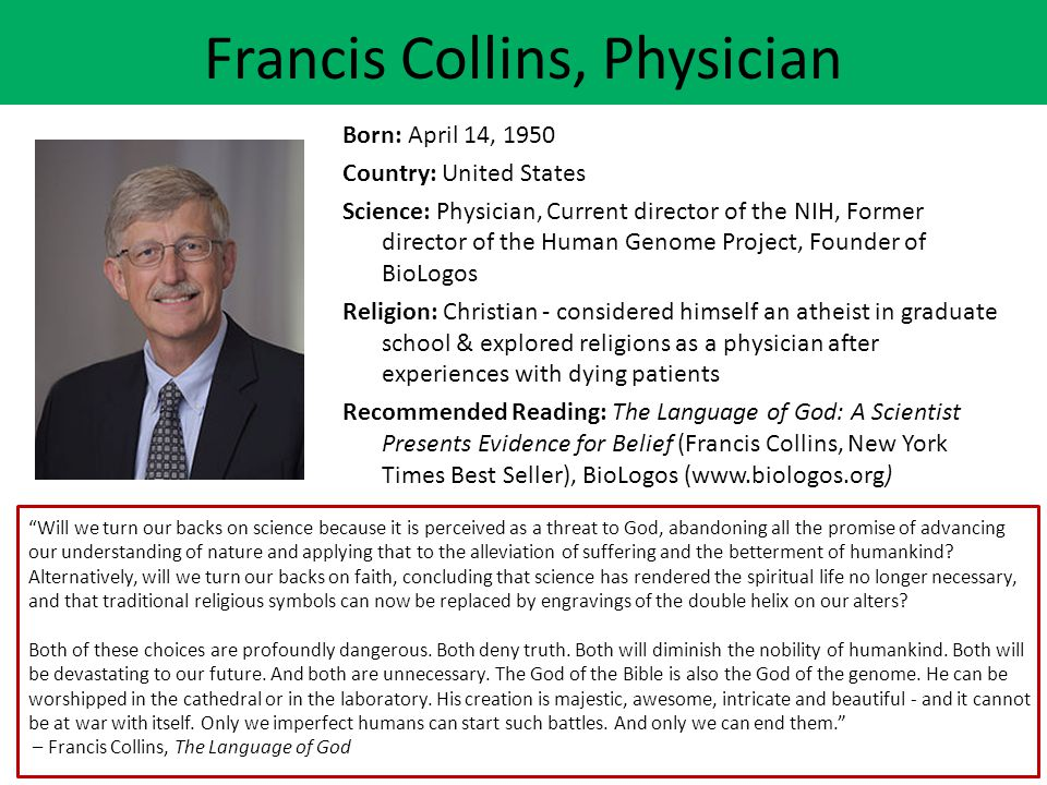 Francis Collins, Physician