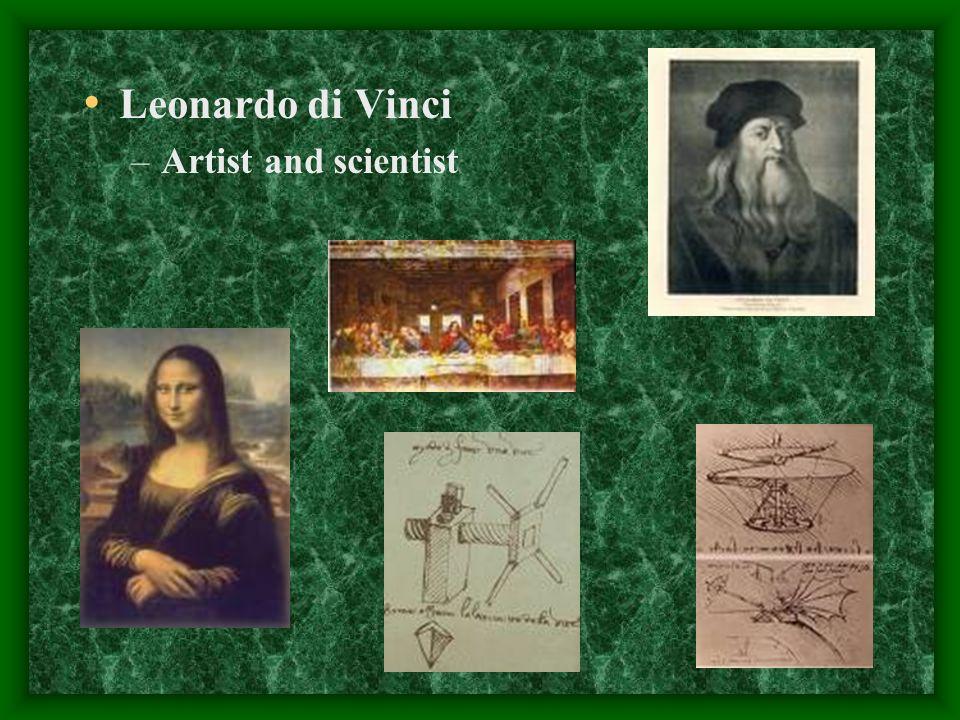 Leonardo di Vinci Artist and scientist